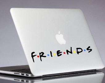 Friends decal - Friends TV Show Laptop Sticker - Macbook Decals - Friends Logo Living Room Wall Decals - Laptop Decal - Wall Sticker