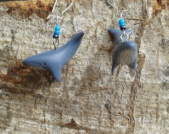 Earrings whale Totem