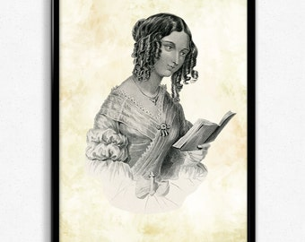 Woman Reading in Black and White Print - Woman Reading Poster - Woman Reading Art - Woman Reading Poster - Living Room Art