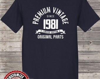 Premium Vintage Since 1981, 36th birthday gifts for Men, 36th birthday gift, 36th birthday tshirt, gift for 36th Birthday Party