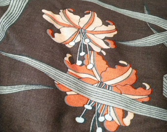 Vintage J. Wolf day lily fabric from House and Home 1980