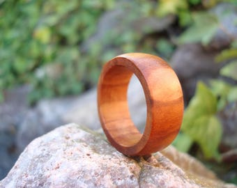 Wooden Ring (7 1/2) Pear Wood Ring/Affection/Pear Tree/Gaia/Handmade Ring/Peace/Support/Natural Jewelry/Hypoallergenic Ring/Stability