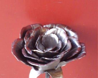 Rose forged. Blacksmith made metal