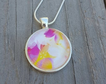 Flower Petal Swirl Pendant Necklace- Spring Fashion - Summer Fashion - Unique Jewelry - Flower Jewelry - Gift for Her