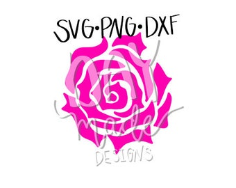 Rose SVG, flower svg, rose cut file