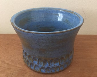 Arctic Blue Scalloped Vase