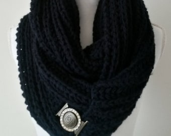Snood woman, circular scarf - knitted scarf hand - knitted scarf hand neck - scarf pure wool, wool neck