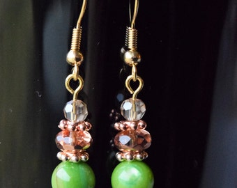 Rose Gold Earrings, Jewelry, Special Occasion, Gift for Her, Handmade Jewelry