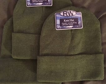 Green Knit Beanie (Adult One Size)