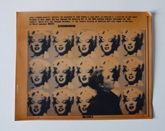 Andy Warhol Original Wire Photo