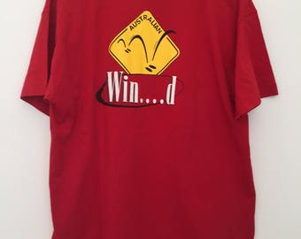 Vintage tshirts / 90s tshirt / red tshirt / print tshirt / funny tshirts / surfer