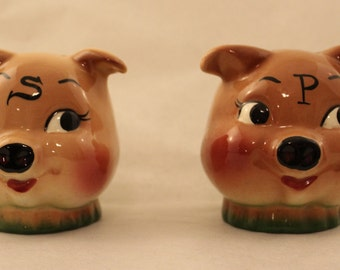 Pig Salt and Pepper Shakers by DeForest California Pottery