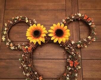 Spring Disney Ear Wreath