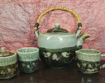4 Piece Ceramic Japanese Tea Set