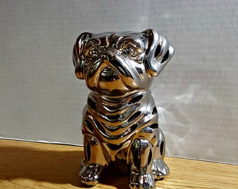 Silver Scented Pug Decoration