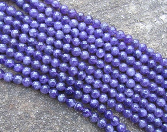 8 MM High Quality Natural Amethyst / round beads gemstones 15.5'' strands