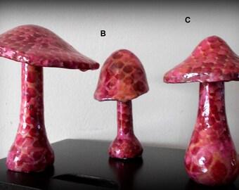 Mushroom pink Python