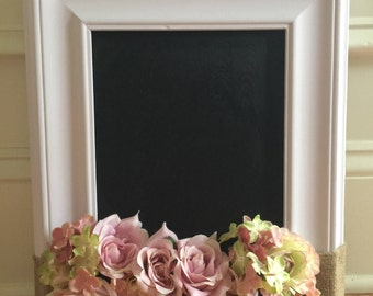 Small chalkboard made from reclaimed frame/Chalkboard made to look like window/Children's chalkboard/Pink little girl's chalkboard