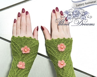 "FINGERLESS GLOVES   ""Blossom tree"""