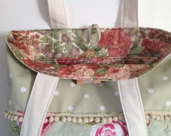 A vintage bag with bobble trim and wooden toggle make a lovely gift