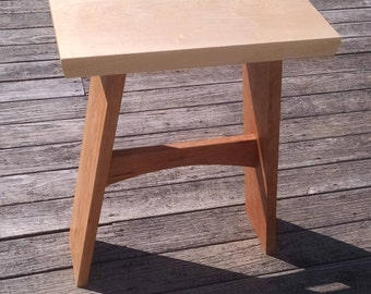 Hard maple and cherry side table