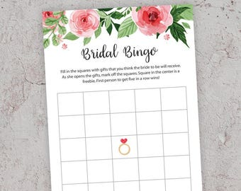 Bridal Bingo, Bridal Shower Games, Bingo Cards Printable, Gift Item Bingo, Bachelorette Bingo,Bridal Bingo Cards, Wedding Shower, J003