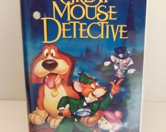 The Great Mouse Detective VHS Movie Black Diamond Walt Disney Classic Rare VHS Movie Tape