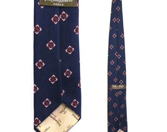 "FATHER'S DAY SALE*Vintage Clothing Accessories • Authentic Yves Saint Laurent Paris Tie •Navy Blue • Polyester •62"""
