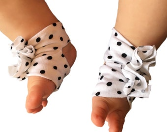 Polka Dot Barefoot Baby Sandals, BarefootSandals, Barefoot Baby Sandals, Bottomless Baby Sandals, Baby Girl Sandals, Barefoot Baby Sandals