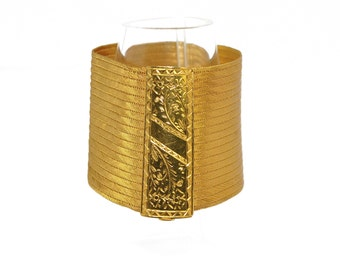 Cuff Bracelet yellow gold vintage 22K