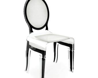 Acrylic Sixteen White Medallion Chair