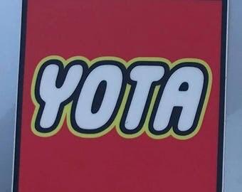YOTA Sticker Toyota