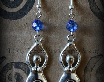 Pagan Spiral Goddess Earrings