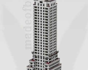 CUSTOM LEGO BUILDING Chrysler Building. New York . Usa. (United States of America).  Skyscraper. Giant Size: 66 inches!!!