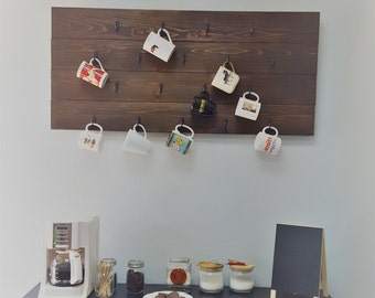 Wooden Coffee Mug Holder