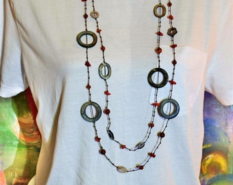 Vintage Beaded Chain Necklace