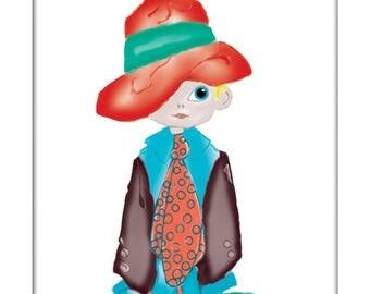 Boy Gift Dress Up Play Nursery Art Print Wall Decor