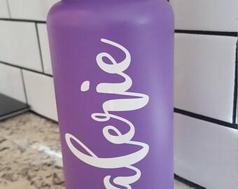Custom name vinyl decal for hydroflask,yeti,waterbottle