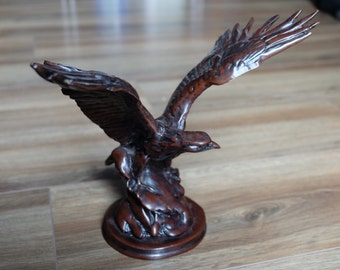 Full Body Cast Resin American Eagle with wings spread, Resin Ornament sculpture