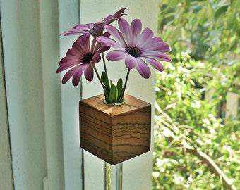 Window vase Zebrano flower vase flower vase