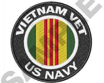 Vietnam Vet US Navy - Machine Embroidery Design