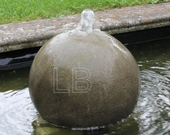 Fountain ball 28 cm Fontaine fountain stone cast frost-resistant fountain