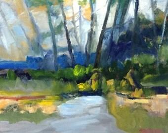 "Original Oil Painting Framed Landscape ""Tracery"""