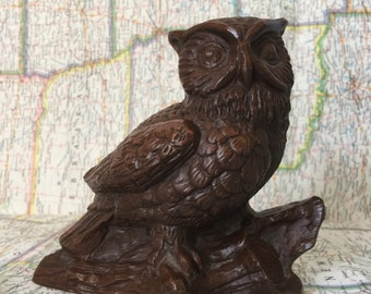 Red Mill Owl Figurine