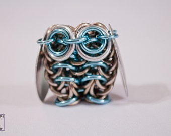 Sculpture Champagne & Sky Blue Owl