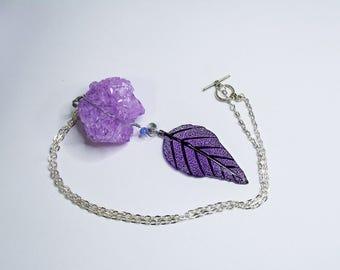 Jacaranda - Crystal Amethyst Purple Quartz Necklace