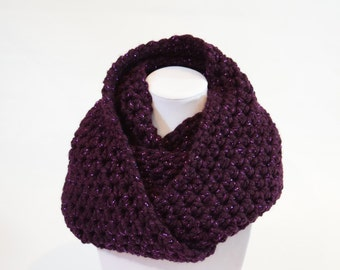 Purple Sparkle Infinity Scarf