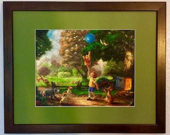 Disney Kinkade Framed/Assembled Puzzle Art - Winnie the Pooh