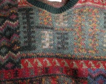 WOOL MOHAIR blend Gianni Bugli Milano size xxl mens sweater Old School