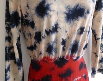 Yohji Yamamoto tie-dye jersey dress tunic